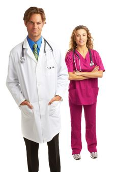 Free Young Serious Doctor And Nurse Stock Images - 30620194