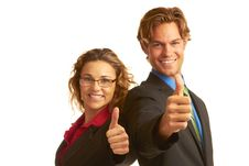 Free Confident Business Man Giving The Big Thumbs Up Stock Image - 30620201
