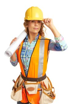 Free Content Beautiful Female Construction Worker Royalty Free Stock Photos - 30620228