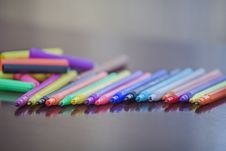 Free Colored Markers Stock Photo - 30621250