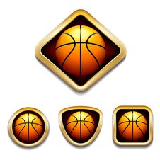 Free Basketball Badge Royalty Free Stock Photo - 30622295