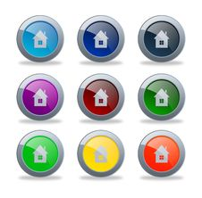 Free Glossy Home Buttons Stock Images - 30623724