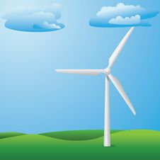 Free Wind Turbine On Grass Field Royalty Free Stock Images - 30626519