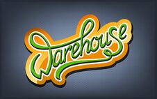 Free Warehouse Handwritten Logo Stock Photos - 30628873