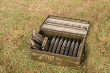 Free Ammunition Bullet Holders. Stock Image - 30629721