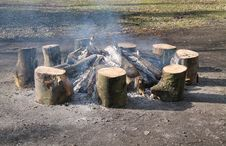 Free Wood Log Fire. Royalty Free Stock Image - 30629736