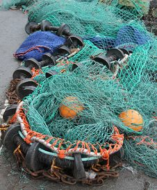 Free Fishing Nets. Stock Images - 30629744