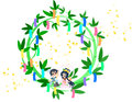 Free A Star Festival Wreath Stock Images - 30630884
