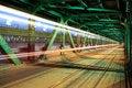 Free Tram In Traffic On The Bridge At Night Stock Image - 30633571