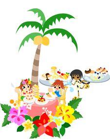 Free Hawaiian Pancake Cafe-1 Stock Image - 30630811