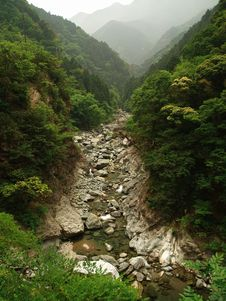 River In The Mountains In Japan Royalty Free Stock Photo