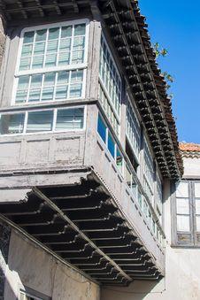 Traditional Wooden Balcony In Tenerife Stock Photos