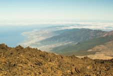 Tenerife Island. The View From Teide Volcano Royalty Free Stock Photo