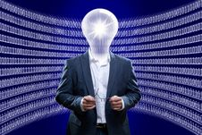 Free Concept Image Of A Business Man IT Engineer In Front Of Zeros And Ones Royalty Free Stock Photo - 30634835