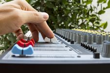 Free Hand On The Mixer Royalty Free Stock Photography - 30636527