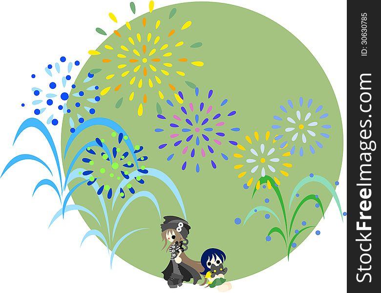 Fireworks of the midsummer-1
