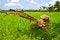 Free Plow Fields In Farm Rice On Blue Sky. Stock Image - 30630681