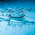 Free Water Splash With Suspended Droplets Stock Image - 30647411