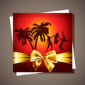 Free Summer Beach Party Flyer. Stock Photo - 30648060