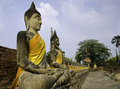 Free Buddha Statues In A Row At Stock Images - 30648684