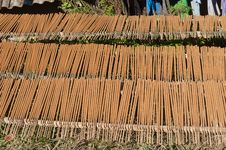 Free Make Big Incense Stick In The Village. Sapa. Vietn Stock Photos - 30642963