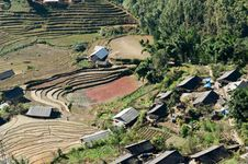 Free Village And Rice Paddy Fields. Sapa. Vietnam Stock Photos - 30643013