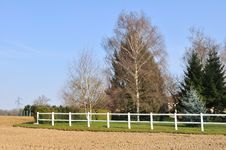 Free White Fence Stock Photography - 30645812