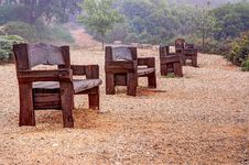 Free Benches In The Fog Stock Photography - 30647992