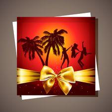 Summer Beach Party Flyer. Stock Photo