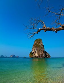 Free Tropical Beach Landscape. Thailand Royalty Free Stock Photo - 30653645