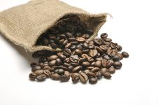 Free Coffee Beans In Burlap Sack Stock Photos - 30656563