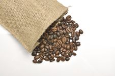 Free Coffee Beans In Burlap Sack Stock Images - 30656564