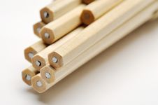 Wooden Pencils Stock Image