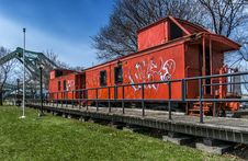 Free Old Orange Train Stock Photos - 30656723