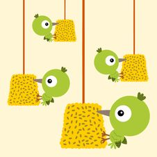 Free Hanging Bird Seeds Stock Image - 30657701