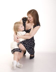 Free Portrait Of Happy Mother And Daughter Hugging In Beauty Dress Royalty Free Stock Photography - 30658857