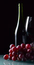 Free Grape And Glass With Red Wine Stock Photo - 30665090