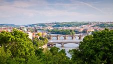 Free Prague Bridges Across Vltava River Royalty Free Stock Photography - 30662167