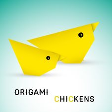 Free Chickens Origami Stock Image - 30662971