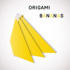 Free Bananas Origami Royalty Free Stock Photo - 30662975