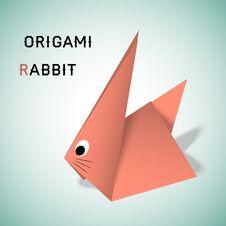 Free Rabbit Origami Stock Image - 30663031