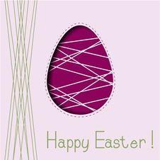 Free Greeting Card With Easter Egg Stock Photo - 30663080