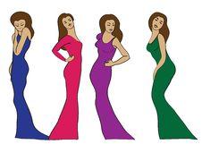 Free Four Girls Royalty Free Stock Photo - 30663585