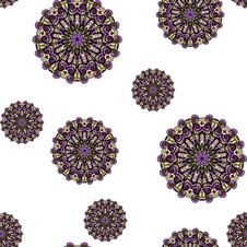 Free Seamless With Purple Circles Royalty Free Stock Photos - 30666528