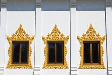 Free Window Of Hor Phra  In Temple Of The Wat Rhai Pa Royalty Free Stock Photos - 30668228
