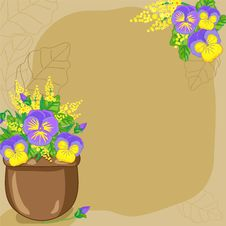Free Background With Flowerpot Stock Photos - 30668233