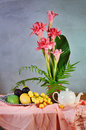 Free Tropical Fruit And Flower Composition Stock Images - 30678084