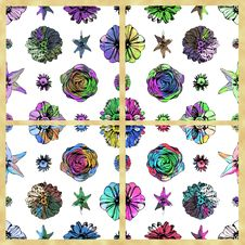 Free Set Of Colorful Seamless Floral Patterns Royalty Free Stock Photography - 30670167