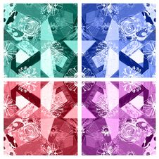 Free Seamless Floral Pattern Abstract Fabric Background Royalty Free Stock Images - 30670379