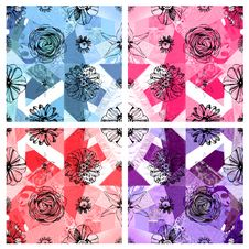 Seamless Floral Pattern Abstract Fabric Background Royalty Free Stock Photo